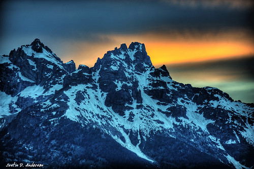 Grand Teton Sunset - Jackson Hole, Wyoming