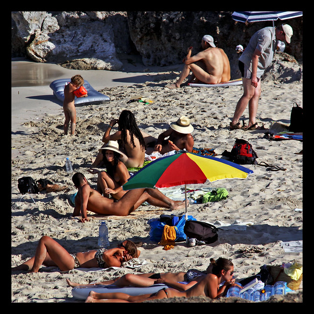 Cala varques. Nudist and naturist beach.manacor .mallorca.