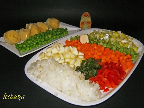 La cocina de lechuza recetas de cocina con fotos paso a - Arroz con pescado y verduras ...