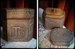 pewter tea caddy