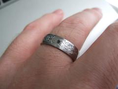 hand(1.0), wedding ceremony supply(1.0), ring(1.0), finger(1.0), metal(1.0), jewellery(1.0), silver(1.0), platinum(1.0), wedding ring(1.0),