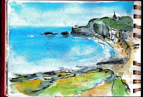Etretat - in yoyo's sketchbook