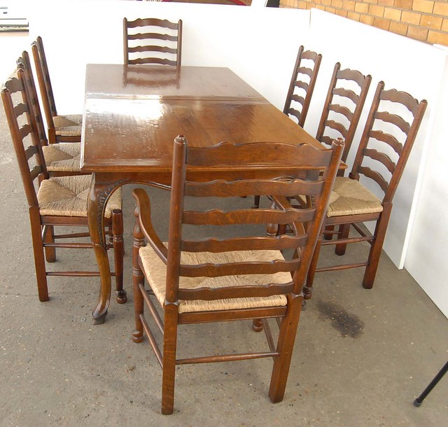 French farmhouse table and ladderback chair dining set for French farmhouse dining chairs