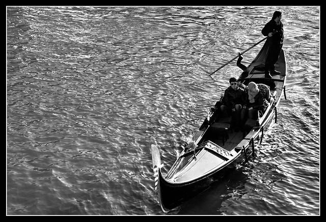 Gondola trip in Venice (Venezia), Italy