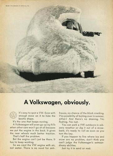 1961 Volkswagen Beetle Ad (Snow)