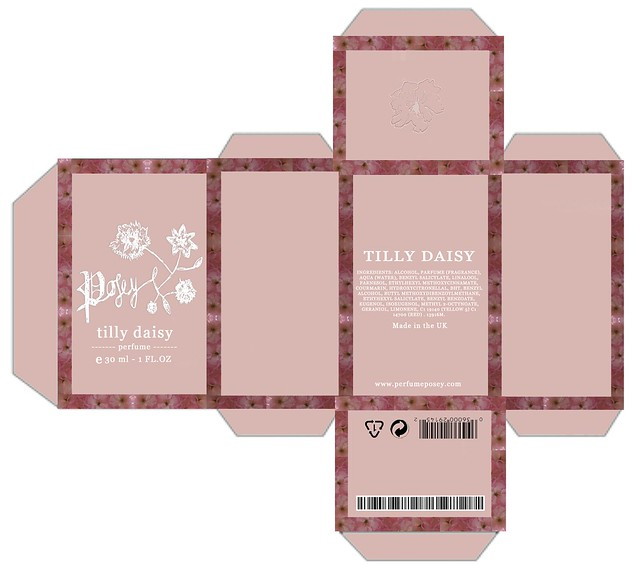 Posey by tilly daisy perfume box packaging flickr for Cologne box template