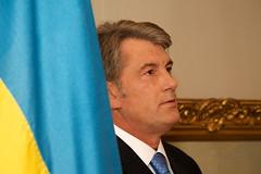 Wiktor Juschtschenko, Präsident der Ukraine, im Landgut Lohn/Bern