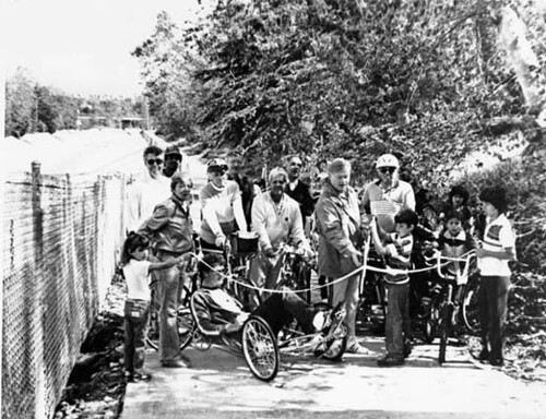 Dedication of Arroyo Seco bike path ca. 1983