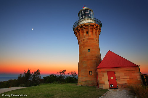 Barrenjoey Lighthouse after Sunset, Sydney, Australia