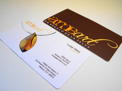 Ambart business card
