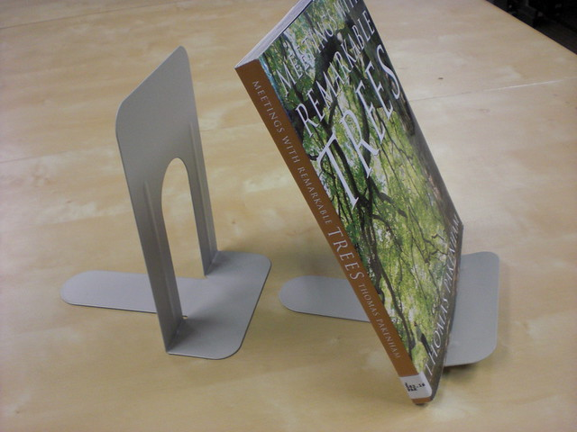 How To Make A Book Holder : Bend metal bookends to make a book holder flickr photo
