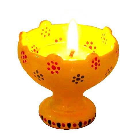 Indian Diwali Diya - Glowing Dandelions