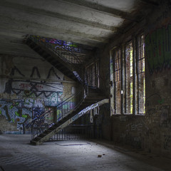 ice factory stairs