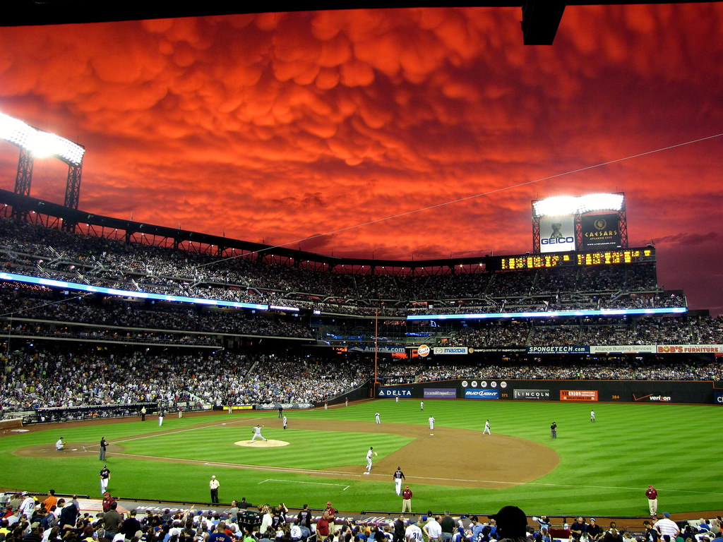 Picture of the Day: Crimson Skies and Mammatus Clouds