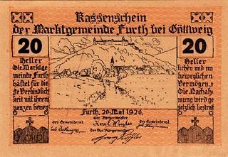 Furth, 20 heller, 1920