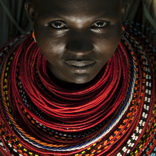 Rendille woman with beaded necklaces - Kenya
