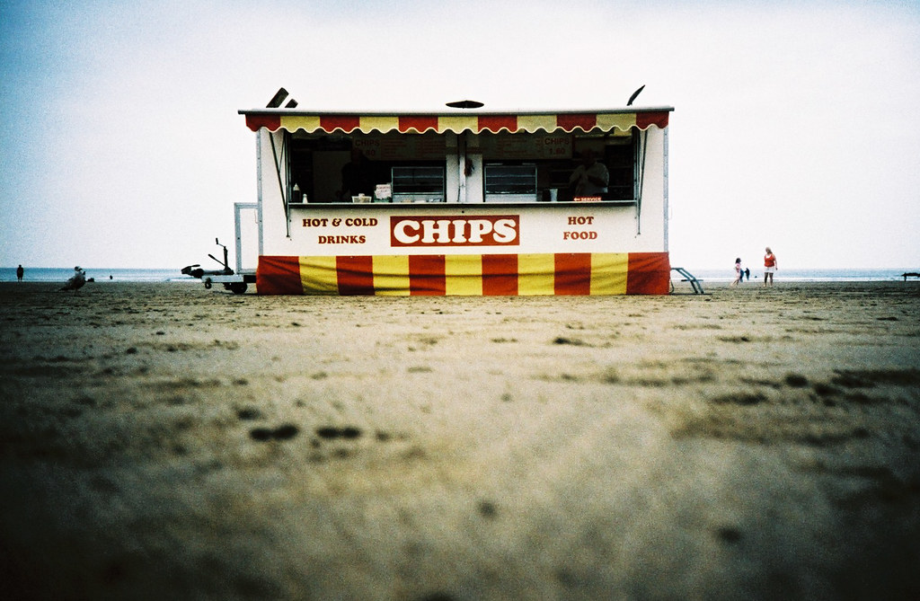 chips on the beach