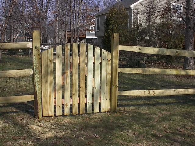 Arched picket gate on split rail fence   Flickr - Photo ...