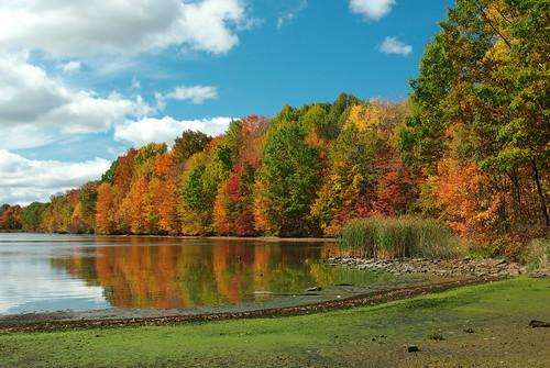 autumn red orange lake reflection green fall water yellow landscape james pentax pennsylvania cove jim foliage pa kahle clarion parkes venango da1855 k200d