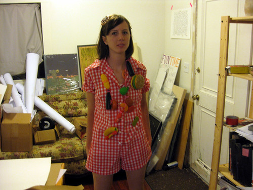Marci's picnic costume (she has to dress up for work twice)