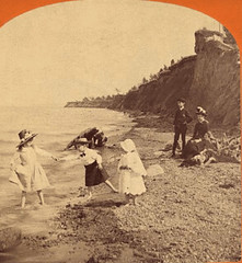 (animated stereo) Ontario beach in the Gilded Age, 1889