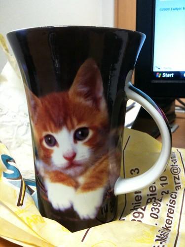 Wenn ich heut nicht die schönste Kaffeetasse im ganzen Büro abbekommen habe...