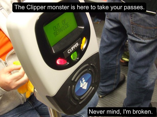 Clipper Monster Reader FAIL