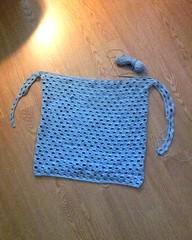 Dot-to-dot crochet jumper WIP