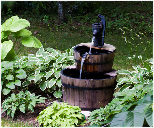 Barrel Pump Water Feature Flickr Photo Sharing