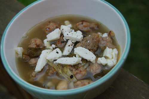 escarole, white bean, and sausage soup