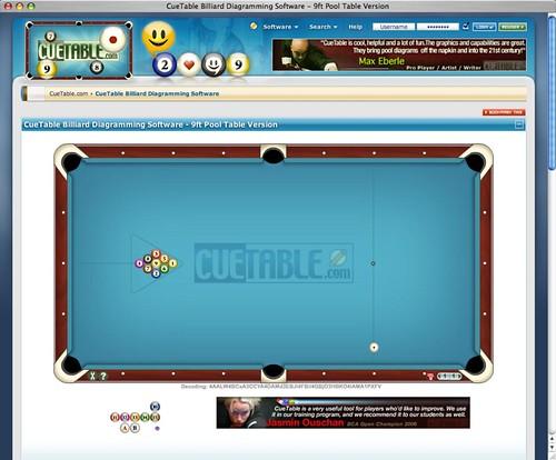 CueTable Billiard Diagram Software - Pool Table Version ...