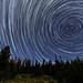 Perseid Meteors Penetrating Circumpolar Star Trails by Fort Photo