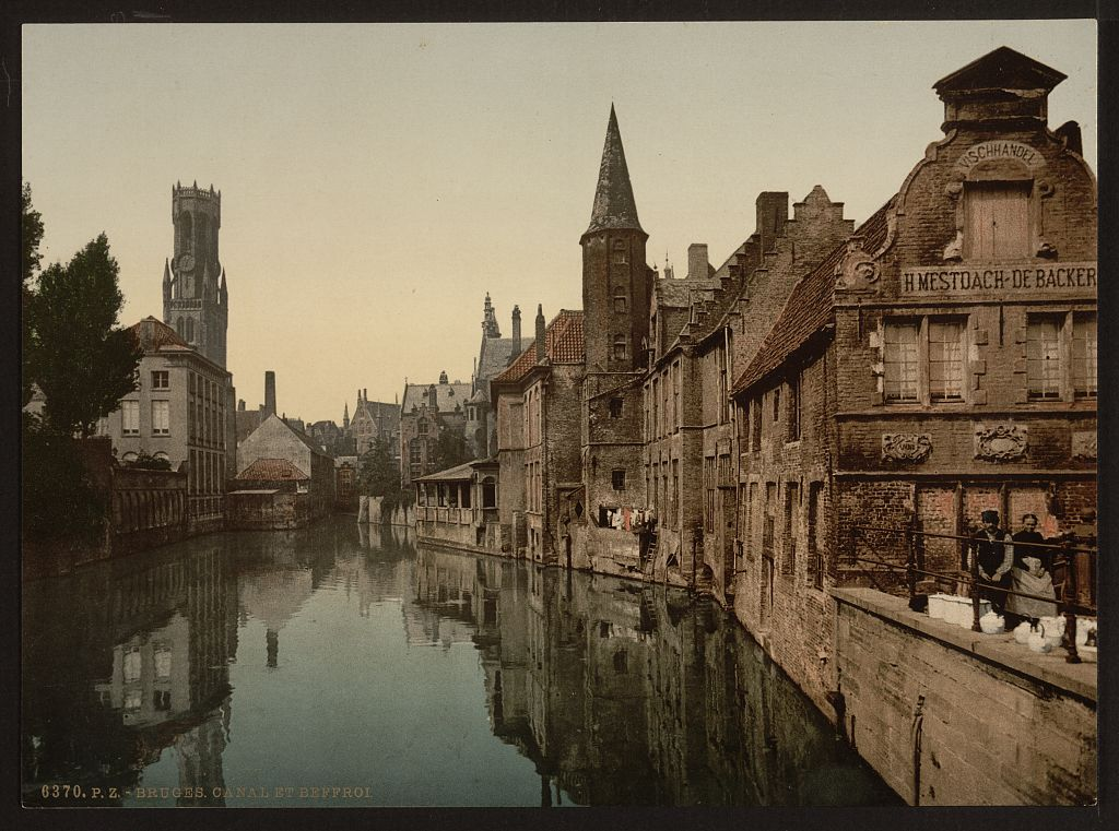 [Canal and Belfry, Bruges, Belgium] (LOC)