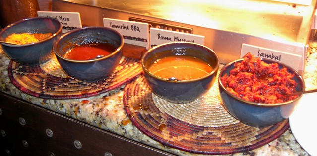 Condiments at Carving Station