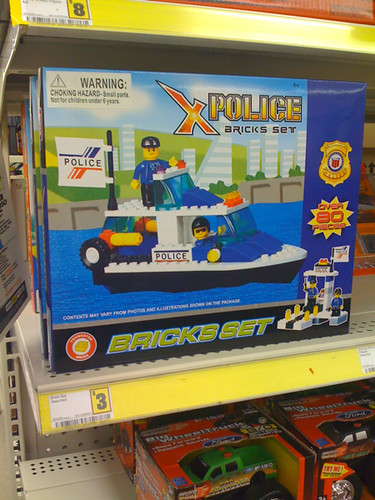 Lego Knock-off Police Set At Dollar Store