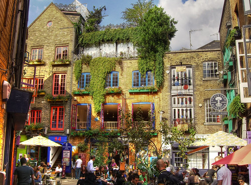 Colorful colors and decor at Neal's Yard by Mikelo on Flickr.  Used through creative commons.