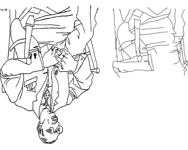 daily drawing 10 upside down drawing of picasso u0026 39 s igor