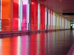 Colorful Airport Corridor 1 of 4