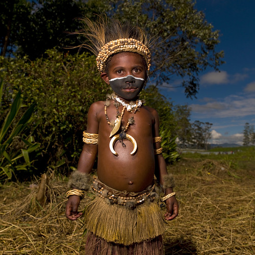 Kid in Mount Hagen - Papua New Guinea