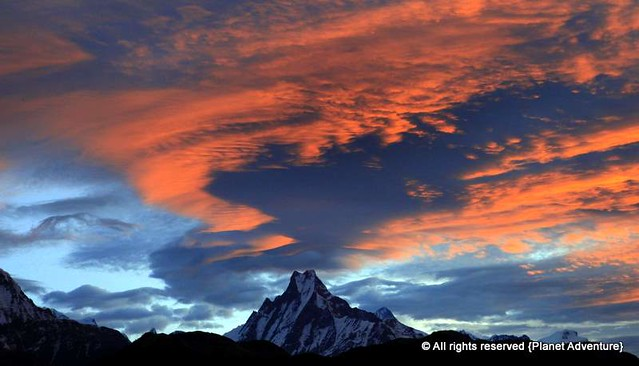 Sky on Fire - Macchapucchre - The Fishtail Mountain - 6993 mts - Sunrise @ Poon Hill - Annapurna Circuit Trek - Nepal