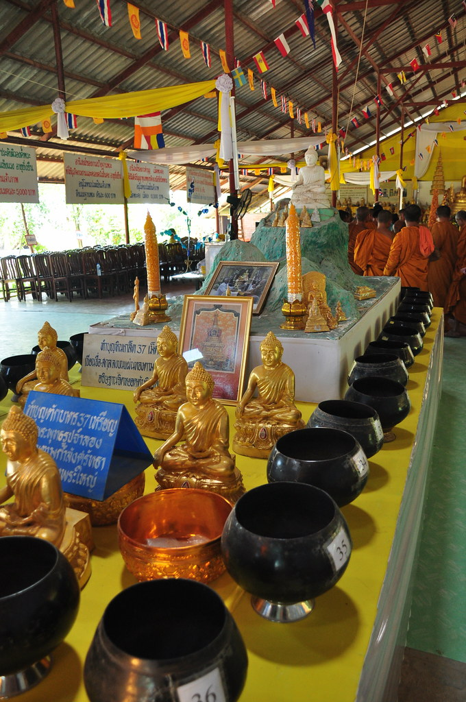 Monks and wish urns