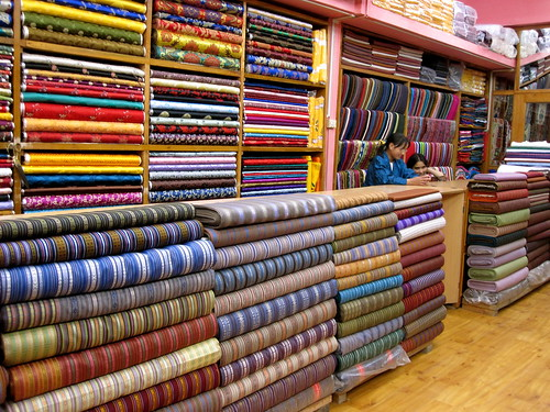 Thimphu fabric shop