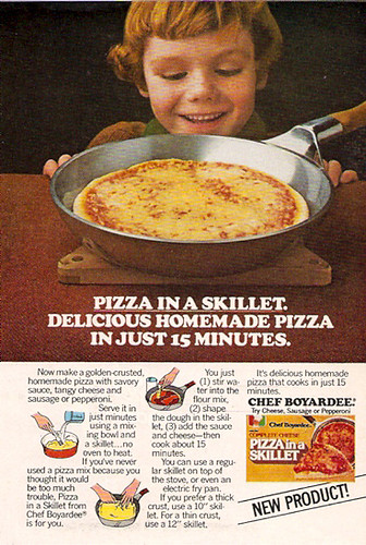 1979 Chef Boyardee Pizza in a Skillet Magazine Ad by gregg_koenig