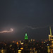 Lightning bolt near the Empire State Building