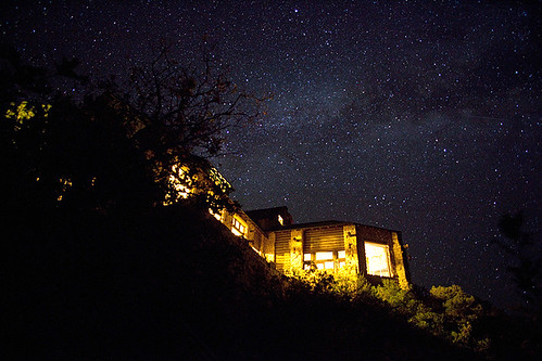 The Milky Way over Grand Canyon lodge