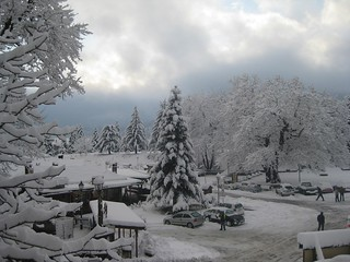 Snowy Metsovo,Greece