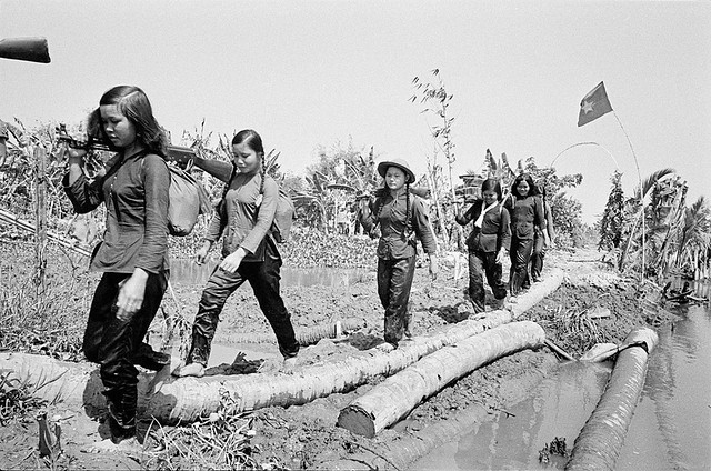 Vietnam War 1973 - Photo by A. Abbas - Trong vùng giải phóng của VC gần Mỹ Tho