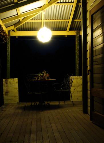 Orbital light on verandah