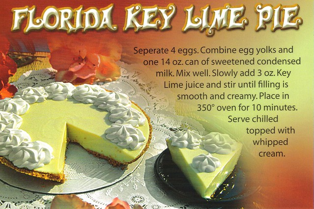 Florida Key Lime Pie postcard #3 - available | Flickr - Photo Sharing!