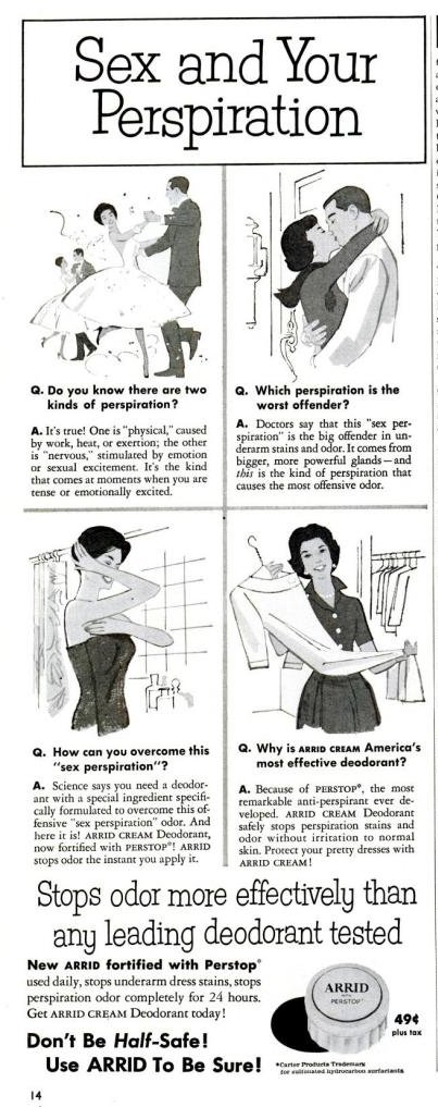 sex and your perspiration